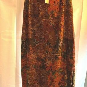 Christopher & Banks Sz 10 Womens Floral Long Skirt